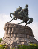 对波格丹赫梅利尼茨基, Ukrane,基辅的纪念碑 免版税库存照片
