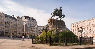 对波格丹赫梅利尼茨基, Ukrane,基辅的纪念碑 免版税库存图片