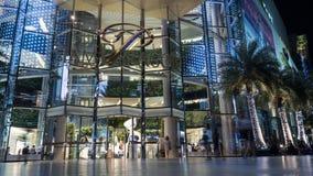 对泰国模范购物中心的入口,夜曼谷 库存照片