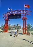 对海军码头,芝加哥,伊利诺伊的入口 库存图片