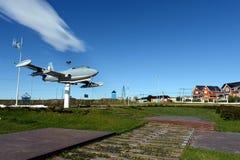 对海军航空基地里奥格兰德的海军阿根廷的飞行员的纪念碑 免版税库存图片