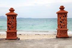 对海滩的入口 图库摄影