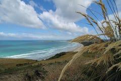 对海滩的看法从佛罗伦萨小山监视 免版税库存照片