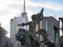 对海王星的喷泉 免版税图库摄影