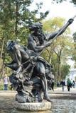 对海王星的纪念碑在银行营业厅在墨西哥城 库存照片