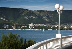 对海运海湾的视图在黑海 免版税库存照片