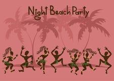 对海滩党的邀请 库存照片