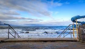 对海滩的台阶 免版税图库摄影