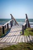 对海滩的楼梯 免版税图库摄影