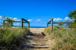 对海滩的段落 库存图片