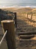 对海滩的路 免版税库存照片