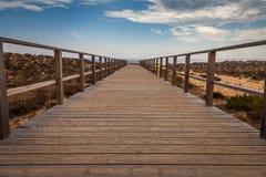 对海滩的逃命方式 免版税库存照片