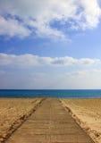 对海滩的Tha方式 免版税图库摄影