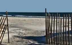 对海滩 免版税库存照片
