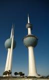 对淡水水库科威特塔07的亦称外视图 01 2015年科威特 库存图片