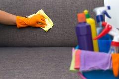 对清洗的服务工作者质量专业做的家c的时间 库存照片
