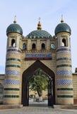 对清真寺的入口是砖 免版税库存图片