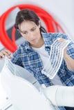 对清洗的和洗涤的维护的时间 免版税库存照片