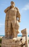 对渔夫的纪念碑在卡拉费尔 免版税库存图片