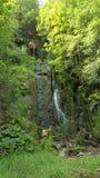 对瀑布的远足 库存图片