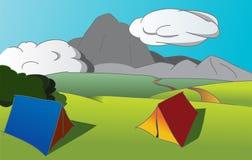 对火山的远征 免版税库存图片