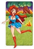 对火的寓言 库存图片