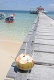 对热带欢迎的海滩 图库摄影