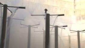 对焦炭的生产的冷却塔 股票录像