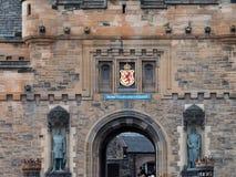 对爱丁堡城堡的入口 图库摄影