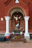 对爱德华Voinilovich,圣西梅昂和圣赫勒拿,米斯克,白俄罗斯天主教会的创建者的纪念碑  免版税图库摄影