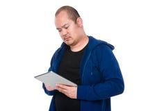 对片剂个人计算机的亚洲人用途 免版税库存图片