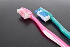 对牙刷 免版税库存图片