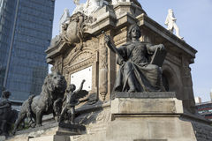 对独立的天使纪念碑在墨西哥DF 免版税库存图片