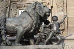 对独立的天使纪念碑在墨西哥DF 库存照片