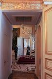 对王位屋子的门 库存图片