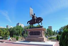对王子Georgy Zasekin的纪念碑 翼果 俄国 免版税库存图片