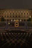 对王宫的大厦的入口在斯德哥尔摩 05 11 2015年 免版税库存图片
