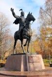 对玛纳斯的纪念碑 吉尔吉斯史诗的宽宏大量的英雄 莫斯科,俄罗斯,友谊公园  图库摄影