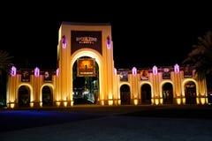 对环球影业的入口,奥兰多, FL 免版税库存图片