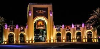 对环球影业的入口,奥兰多, FL 库存图片