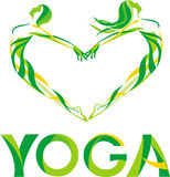 对瑜伽的爱 库存图片