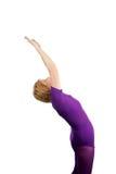 对瑜伽的致敬高级星期日 免版税库存图片
