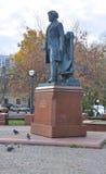 对瓦西里Prechistenka的沃尔斯基Surikov的纪念碑 莫斯科俄国 库存照片