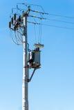 对电子定向塔的电子变压器 免版税库存图片