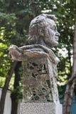 对电影导演埃米尔Loteanu的一座纪念碑 库存照片