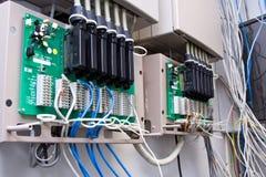 对电汇的联络插件 免版税库存图片