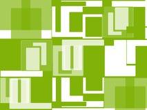 对白色的绿色 免版税库存照片
