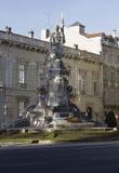 对的纪念碑下落第一次世界大战 免版税库存图片