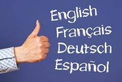 对的语言略图 免版税库存图片