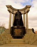 """对皇帝亚历山大二世-俄罗斯莫斯科的纪念碑 纪念碑â€的作者""""雕刻家亚历山大鲁卡维什尼科夫和建筑师 免版税库存图片"""